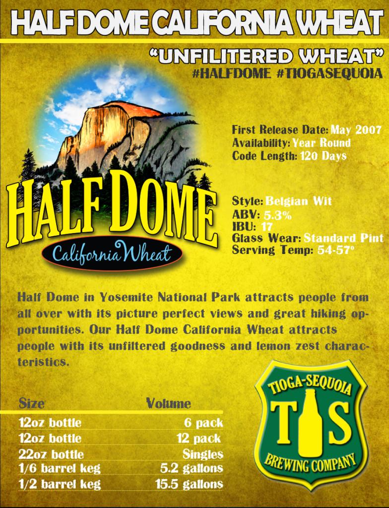 Half Dome California Wheat Tioga Sequoia