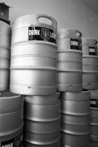 Kegs filled with Tioga Sequoia Beer